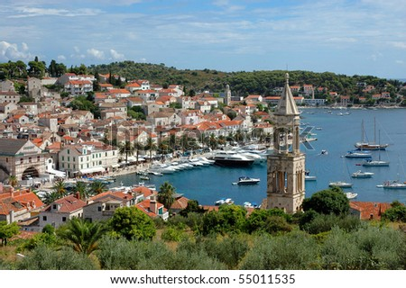 An island Hvar and its marine, Croatia - stock photo