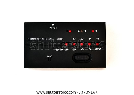 an isolated bass/guitar tuner - stock photo