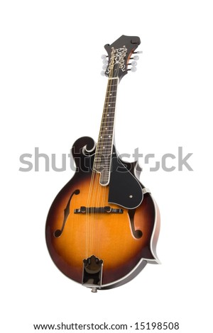 An isolated Bluegrass Mandolin - stock photo