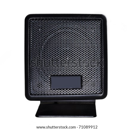 An isolated music object - loudspeaker on a white background. - stock photo