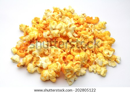 An isolated Pop corn on white background - stock photo