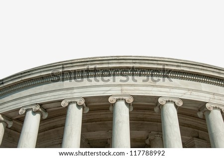 An Isolated Section of Greek Inspired Architecture - stock photo