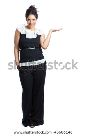 An isolated shot of a black businesswoman
