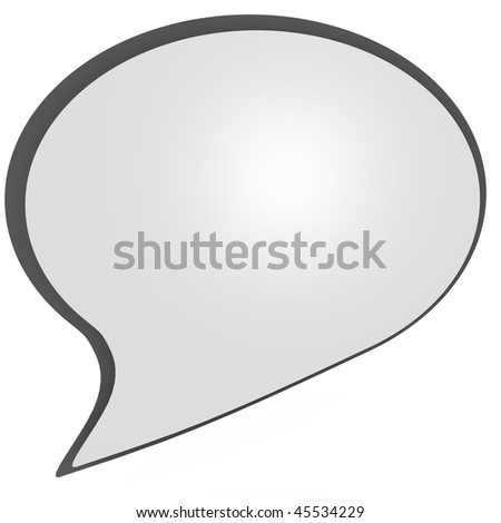 An isolated speaking bubble, a 3d image - stock photo