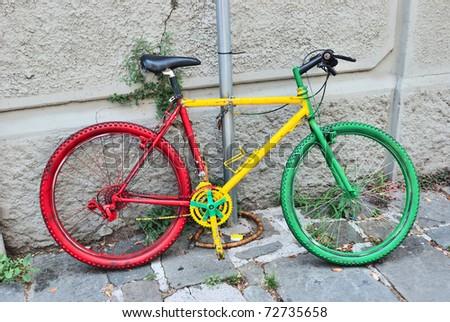 an italy tree color bike - stock photo