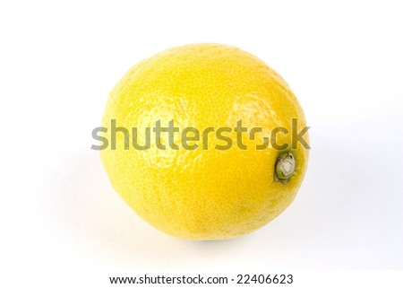 An Lemon isolated on a white background