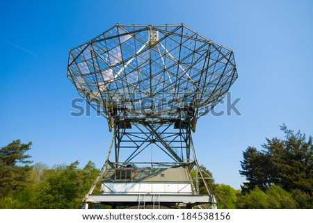 An observatory in Dwingeloo in the Netherlands  - stock photo