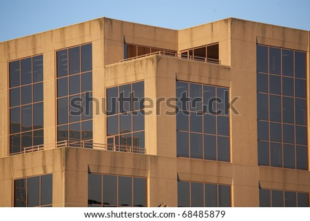 An office building or possibly a hospital, college or other institution. - stock photo