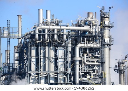 An oil refinery in Schwechat, Austria.