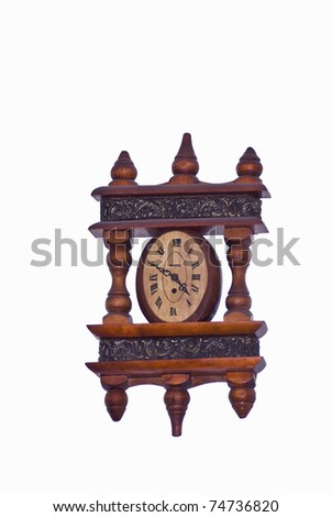 An old clock in the wood