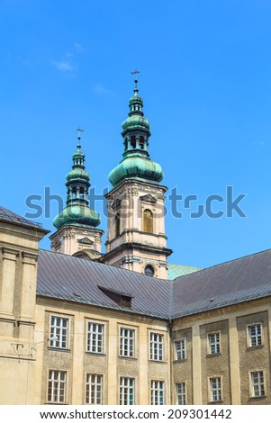 An old Collegium Carolinum in Nysa, Poland - stock photo
