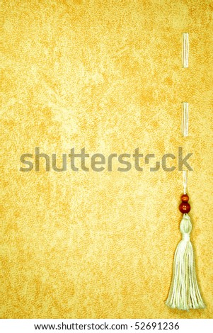An old Diploma page with a fibre tassel - stock photo