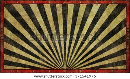 An old, faded, rough and worn red and black graphic design retro print style background in a widescreen 16:9 aspect ratio. - stock photo
