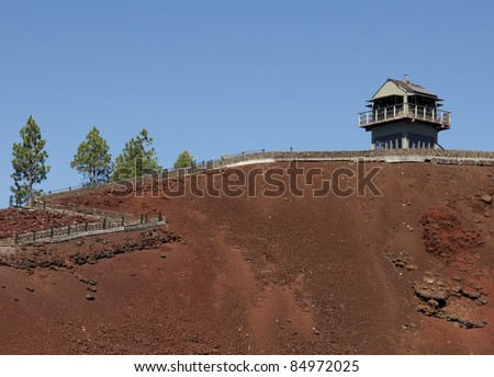 An old forest fire lookout on Lava Butte near Bend Oregon