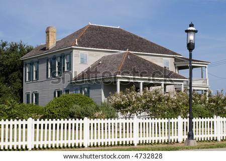an old house at Heritage Park, Corpus Christi, TX, USA - stock photo