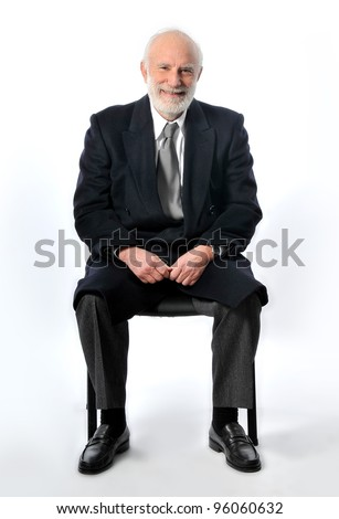 an old man as manager in studio - stock photo