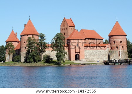 An old medieval castle in Trakai, Lithuania