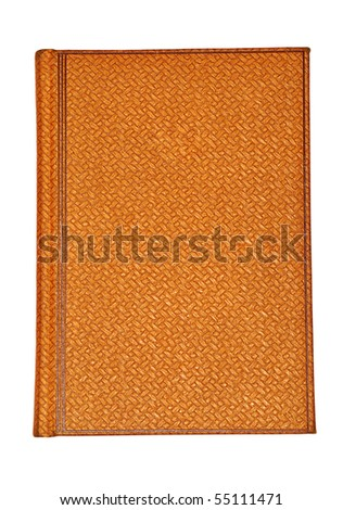 An old notebook from a papyrus is isolated on a white background - stock photo