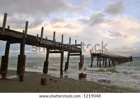 an old pier on a stormy afternoon