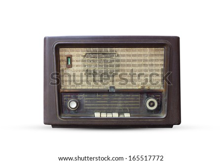 An old radio receiver of the last century