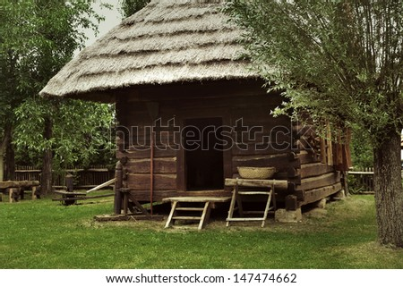 An old rustic house - stock photo
