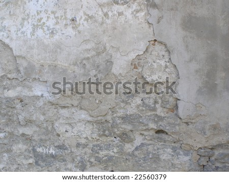 An old shabby stone wall