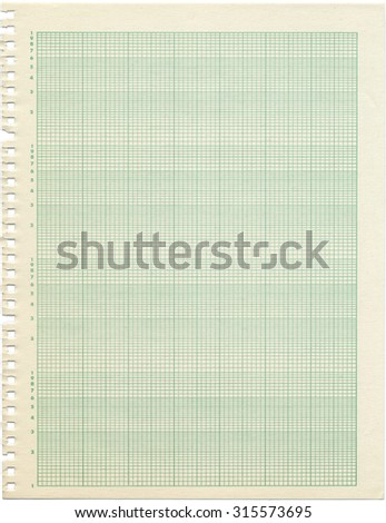 Old Sheet Semilog Graph Paper Shows Stock Photo   Shutterstock