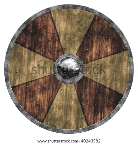 An old shield - stock photo