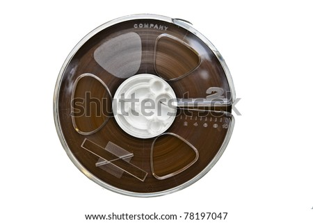 An old sound recording tape, reel to reel type. - stock photo