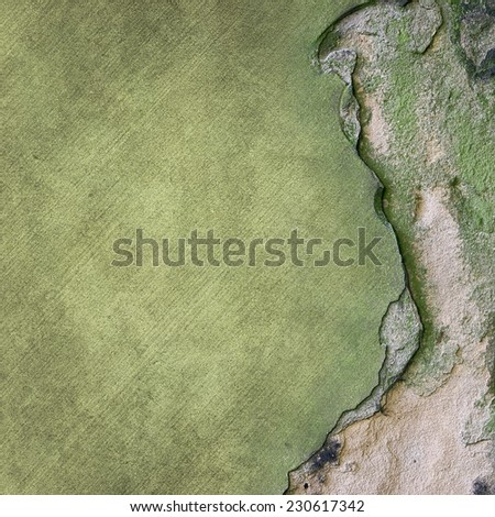An Old Stone Wall with Crack - stock photo