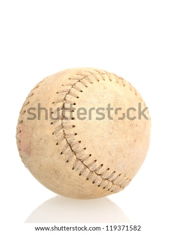 An old style of baseball ball