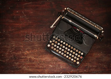 An old typewriter found in a market - stock photo
