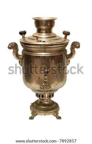 An old vintage bronze samovar (traditional kettle) from Russia