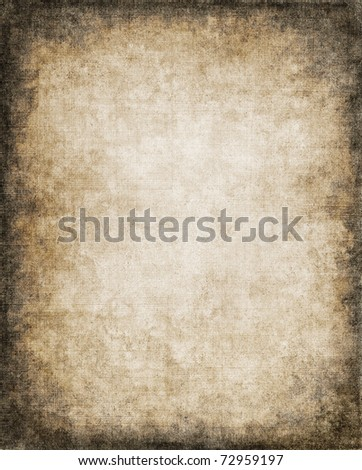 An old, vintage paper background with a subtle screen pattern and dark vignette. - stock photo