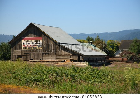 An Old Weathered Barn In A Rural Area Of California USA With
