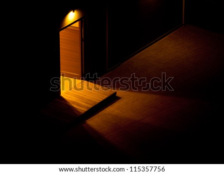 An open door. The light in the tunnel, showing the way out of the darkness.