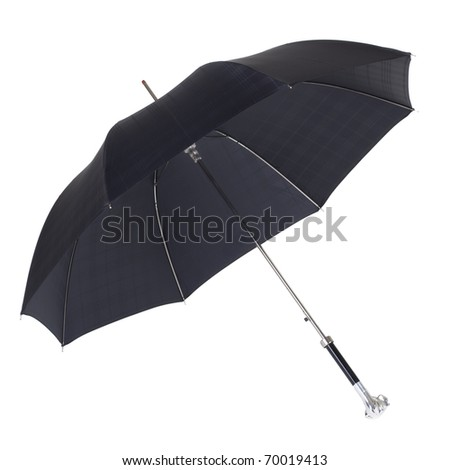 An open umbrella on a white background. Isolated.