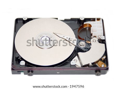 an opening hard disk