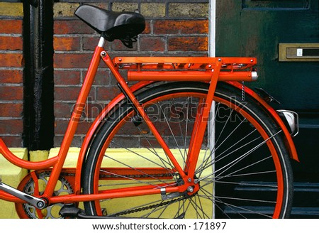 an orange bike - stock photo