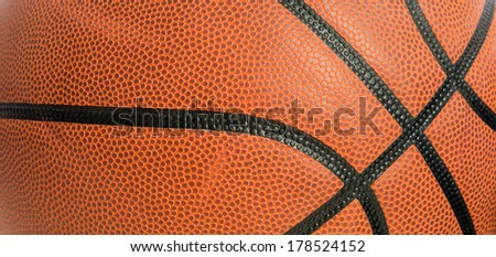 An orange leather basketball as a background - stock photo