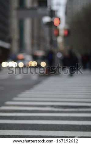 An out of focus Crosswalk - stock photo