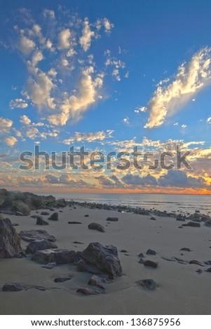 An unique Australian landscape featuring a unusual marine park rock landscape on the east coast bush fringe. with extreme depth of feild - stock photo