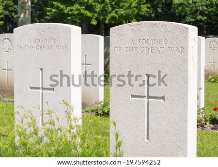 An unknown soldier of the great war WW1 - stock photo