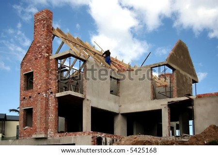 An upmarket house under construction