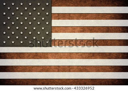 An USA grunge flag for your background - stock photo