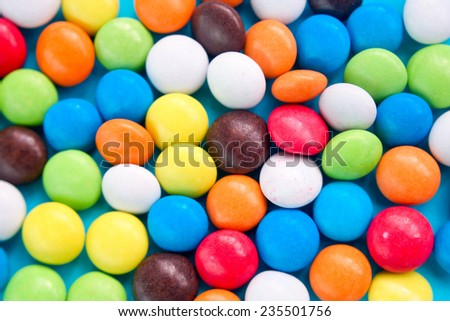 An variety of colorful gumballs. - stock photo