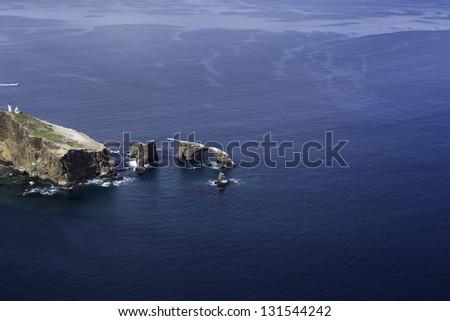 Anacapa Island, Ventura County, California Aerial View - stock photo