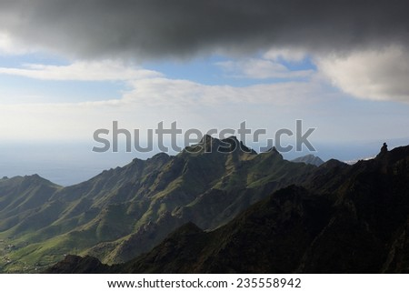Anaga national natural park at Tenerife island, Spain - stock photo