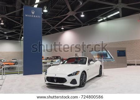 Anaheim   USA   September 28, 2017: Maserati GranTurismo On Display At The  Orange