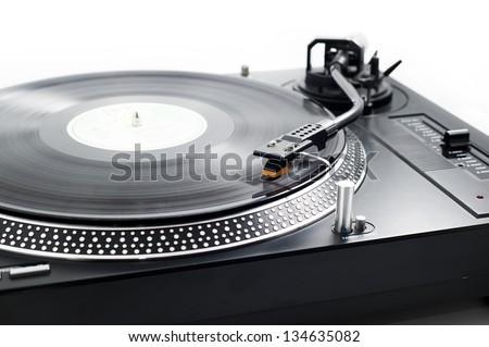 Analog music player - stock photo